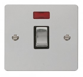 Click Define Polished Chrome 20A DP Switch + Neon FPCH723BK