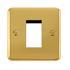 Click Deco Plus Polished Brass New Media Single Plate DPBR310