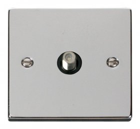 Click Deco Polished Chrome Single Satellite Socket VPCH156BK