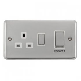 Click Deco Plus 45A DP Switch with Socket Outlet DPCH504WH
