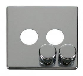 Click Definity 2 Gang Dimmer Switch Cover Plate & Knobs SCP242CH