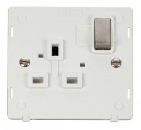 Click Definity 1 Gang Switched Socket Outlet Insert SIN535PWBS