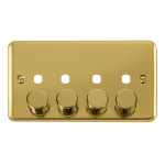 Click Deco Plus 4 Gang Empty Dimmer Plate & Knobs DPBR154PL