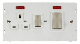 Click Definity 45A DP Cooker Socket With Neon Insert SIN505PWBS