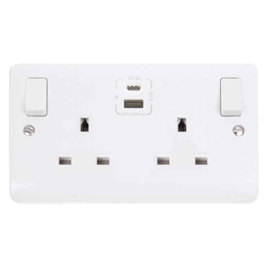 Click Mode Type A & C USB Double Switched Socket CMA786