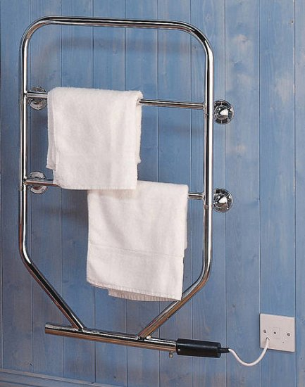 Dimplex 80W Chrome Water Glycol Towel Rail TTRC130