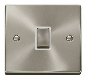Click Deco Satin Chrome 20A Double Pole Switch VPSC722WH