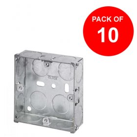 1 Gang 25mm Deep Galvanised Knock Out Box (Pack of 10)