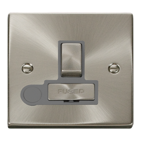 Click Deco Satin Chrome Switched Fused Spur + F/O VPSC551GY