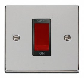 Click Deco Polished Chrome 1 Gang 45A DP Switch VPCH200BK