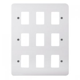 Click Mode White 9 Gang Grid Pro Front Plate CMA20509
