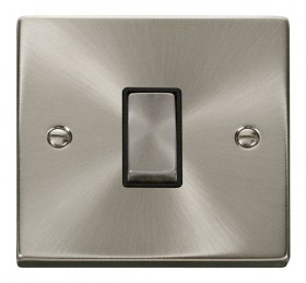 Click Deco Satin Chrome 1 Gang 2 Way Switch VPSC411BK