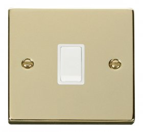 Click Deco Polished Brass 20A Double Pole Switch VPBR622WH