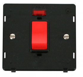 Click Definity 45A DP Switch with Neon Insert SIN201BK