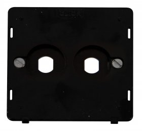 Click Definity 2 Gang Empty Dimmer Plate Insert SIN142PL