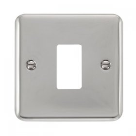 Click Deco Plus Pol/Chrome 1 Gang Grid Pro Front Plate DPCH20401