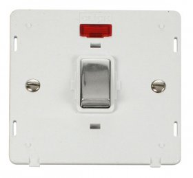 Click Definity 20A DP Switch With Neon Insert SIN723PWCH
