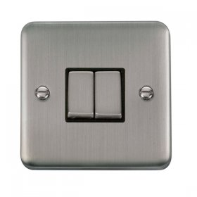 Click Deco Plus 2 Gang 2 Way Ingot Switch DPSS412BK
