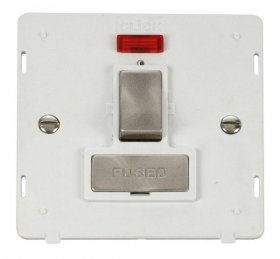 Click Definity 13A Switched Fuse Spur + Neon Insert SIN752PWBS
