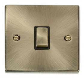 Click Deco Antique Brass 20A Double Pole Switch VPAB722BK