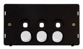 Click Definity 3 Gang Empty Dimmer Plate Insert SIN143PL
