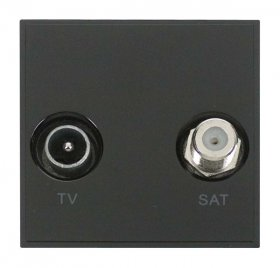 Click New Media MM425BK Diplexed TV and Satellite Module Black