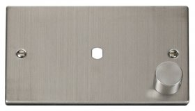 Click Deco Stainless Steel Single Dimmer Plate 1000W Max VPSS185
