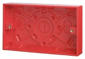 Click Red 2 Gang 25mm Surface Pattress Box WA185
