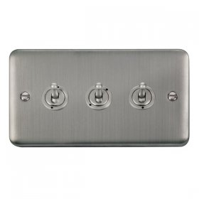 Click Deco Plus 3 Gang 2 Way Toggle Switch DPSS423