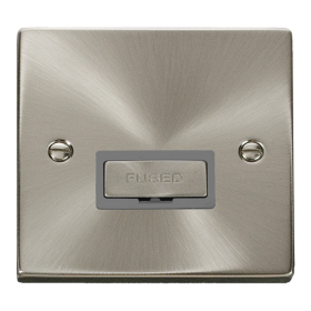 Click Deco Satin Chrome Ingot Unswitched Fused Spur VPSC750GY
