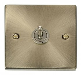 Click Deco Antique Brass 1 Gang 2 Way Toggle Switch VPAB421