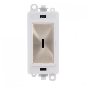 Click Grid Pro GM2046PW Double Pole Key Switch Module White