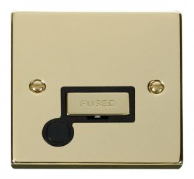 Click Deco Polished Brass Unswitched Fused Spur + F/O VPBR550BK