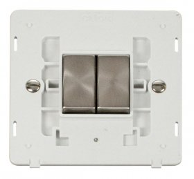 Click Definity 2 Gang 2 Way Switch Insert SIN412PWBS