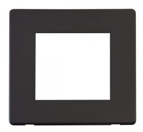 Click Definity Single Media Plate 2G Cover Plate SCP311BK
