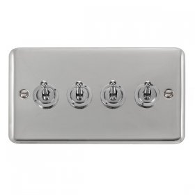 Click Deco Plus 4 Gang 2 Way Toggle Switch DPCH424