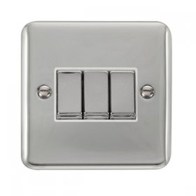 Click Deco Plus 3 Gang 2 Way Ingot Switch DPCH413WH
