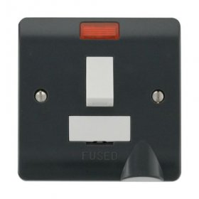 Click Part M 13A Switched Fused Spur Flex Outlet & Neon CMA052AG