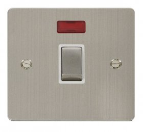 Click Define Stainless Steel 20A DP Switch with Neon FPSS723WH