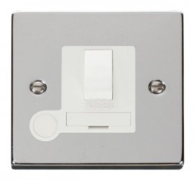 Click Deco Polished Chrome Switched Fused Spur + F/O VPCH051WH