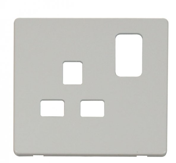Click Definity 13A 1 Gang Switched Socket Cover Plate SCP435PW