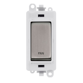 Click Grid Pro GM2018PWSS-FN DP Mod White Stainless Steel Fan