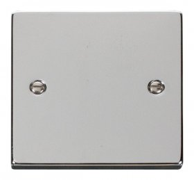 Click Deco Polished Chrome 1 Gang Blank Plate VPCH060