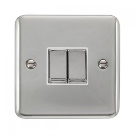 Click Deco Plus 2 Gang 2 Way Ingot Switch DPCH412WH