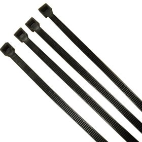 Unicrimp QTB200S 200mm x 4.8mm Black Cable Ties (Pack of 100)