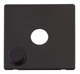 Click Definity 1 Gang Dimmer Switch Cover Plate & Knob SCP241BK