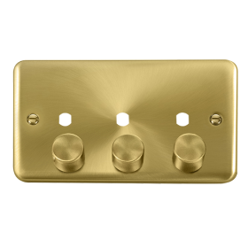 Click Deco Plus 3 Gang Empty Dimmer Plate & Knobs DPSB153PL