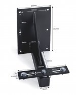 KR Products Swivel Bracket to Carry 1 Large Flood Light KRP7L