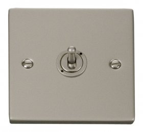 Click Deco Pearl Nickel 1 Gang 2 Way Toggle Switch VPPN421