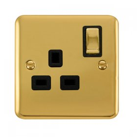 Click Deco Plus 13A Single Switched Socket DPBR535BK